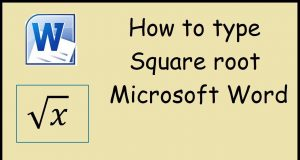 how to type square root
